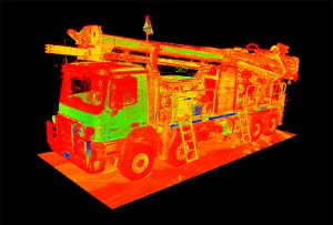 Laser Scanning - Drill Truck Boom Down