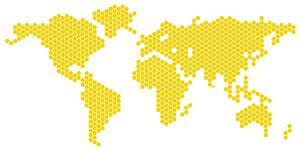 World Map Hexagons
